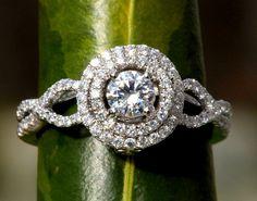 Diamond Engagement Ring 14K white gold   chunky  by BeautifulPetra, $2750.00
