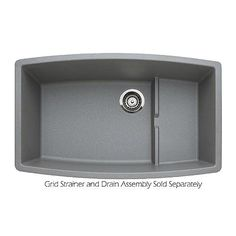 Buy the Blanco 440067 Metallic Gray Direct. Shop for the Blanco 440067 Metallic Gray Performa Cascade Silgranit Granite Composite Undermount Super Single Bowl Kitchen Sink with Raised Ledge and save. Single Bowl Kitchen Sink, New Kitchen, Kitchen Sinks, Kitchen Ideas, Kitchen Remodel, Single Sink, Granite Kitchen, Granite Sinks, Kitchen 2016