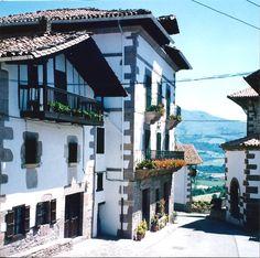 Two ancestral homes in Azpilcueta, Navarra, Spain--Casa Marimochena and Casa Echartena--both lovely and well-kept since early 1700's.-LP (Photo by Linda Astiasuainzarra Purcell)