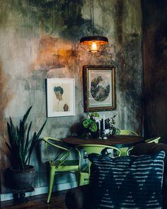 dark watercolor walls