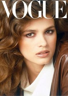 This look never goes out of style...Feminine & Tough, all at the same time. Gia Carangi - Vogue Italia Feb 1981 - Alternate Cover