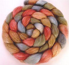 Handpainted Merino Wool/Tencel Roving in by GreenwoodFiberworks, $17.00