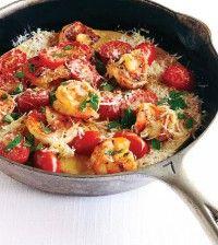 Shrimp Scampi Flatbread made with chickpea flour! No gluten :)