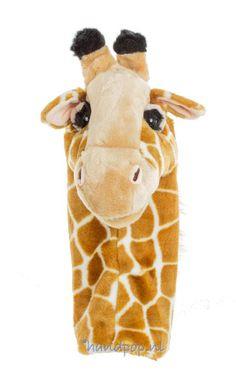 Deze giraffe dierpop van de Puppet Company is prachtig gemaakt, 40 cm groot en past prima bij bijvoorbeeld de geweldloze communicatie.