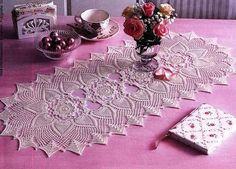 Hoje tem Flor !!!: Trilho de Mesa em crochê com gráfico