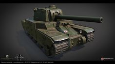 Another tank for World of Tanks project. 11m long and 4.5m high super big tank with 142mm canon.