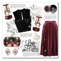 """""""Holiday party style"""" by dressedbyrose ❤ liked on Polyvore featuring Christopher Kane, Alexander McQueen, Nine West, Chanel, Nigaam, Isabel Marant and Effy Jewelry"""