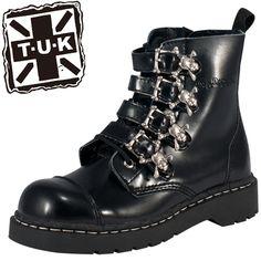 【楽天市場】TUK ANARCHIC SKULL BOOTS T2043 バックルにスカルがあしらわれた、パンクブーツ/ジョージコックスやヨースケ好きにもオススメ![靴 シューズ メンズ mens 男性用 レディース 女性用 ladies ブーツ ロック ゴシック ロリータ ゴスロリ ファッションにも]【10P02Aug14】:靴通販 靴のシューセン