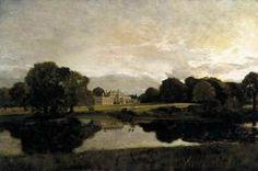 Constable fu un pittore romantico inglese e nei suoi quadri possiamo vedere per di più paesaggi, non più idealizzati come quelli di Annibale Carracci, ma solo pittura e arte. E' un romantico e ha un rapporto speciale con la natura che lo circonda e non con i paesaggi che rappresentano un grande momento storico (come fino ad ora era stato). Il suo quadro non contiene ideali e prima di realizzarlo, fa uno schizzo con l'acquerello. [Malvern Hall, Warwickshire, 1809, Tate Gallery, London]