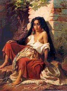Eugene La Girard French artist  (1853—1907) Oil, canvas.
