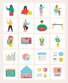 56 beautiful illustrations featuring stylish characters, ready to make your own unique website, ecommerce online store, app or project for your startup business. - 56 Vector format illustrations - Customizable Colors and Size - 100% Vector Shapes - 17 demo templates for website and mobile app - Compatible with Sketch & Adobe Illustrator #ui #illustration #onboarding #business #office #workplace #ai #illustrator