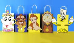 DIY Beauty and the Beast Party Theme Favor Bags