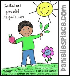 Rooted and Grounded in God's Love Bible Activity Sheet from www.daniellesplace.com  for Children's Sunday School
