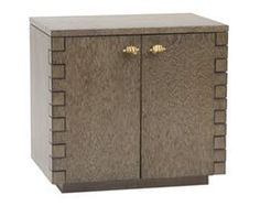 Cosimo Side Table  Transitional, Lacquer, Metal, Wood, Nightstands  Bedside Table by James Duncan, Inc