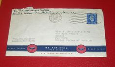 England US First Flight Envelope English Clipper London New York June 26 1939 $2.99