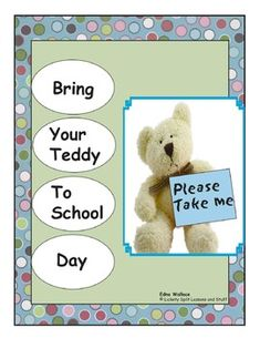Perfect warm and fuzzy activities! Lots of LITERACY activities. Build a bear hospital, host an Academy Awards, go on a bear picnic and a hunt, vote for favorites graphing activity, Create a BOOK parents will LOVE -- 22 page theme unit.