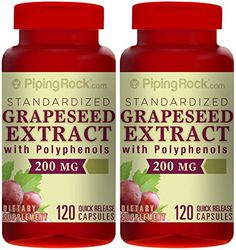 Standardized Grapeseed Extract with Polyphenols 200 mg 240 Capsules Grape Seed Extract, Herbalism, Herbs, Free Shipping, Health, Food, Herbal Medicine, Health Care, Essen