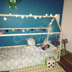 Toddler Bed House Bed Children Bed Wooden House Tent
