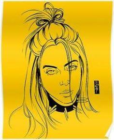 eilish billie yellow paper easy drawings realistic drawing aesthetic cartoon pencil raelynwall weheartut ru