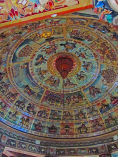 https://flic.kr/p/buz3iH | Airavateshwar Temple  Ceiling | The design depicts the signs of the zodiac.