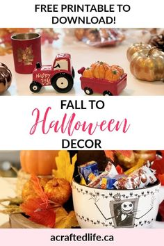 Are you looking for quick and easy ways to transition your seasonal decorating? Learn how to make the shift from Fall to Halloween Decor! By adding just a few seasonal elements, you can make an entire transformation quickly and easily. Farmhouse | Halloween Style | DIY | Crafty | Seasonal