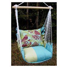 Magnolia Casual Duet Birds Hammock Chair and Pillow Set | www.hayneedle.com