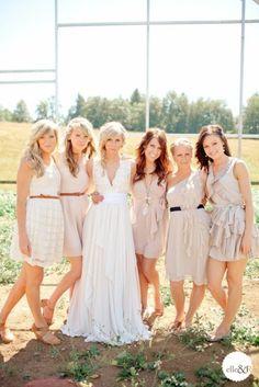 LOVE the bride's dress.