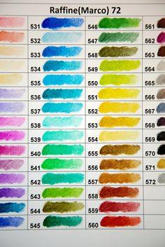 Marco Raffin Pencils Color Swatch TsundruLhamo