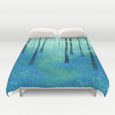 Bluebells, Challock Duvet Cover by Squirrell - $99.00
