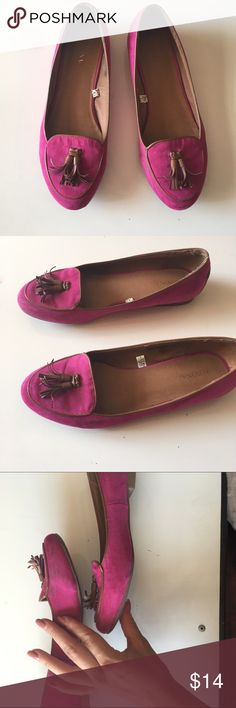 Magenta Loafers Merona Loafers from Target. Worn a handful of times but I really don't have much to match the color. Fun pink / magenta color Merona Shoes Flats & Loafers