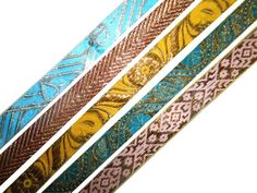 Multicolor Trims Lots of 5 Pcs Trims Floral Jacquard Crafting Lace Border 1 Yard #HandMade