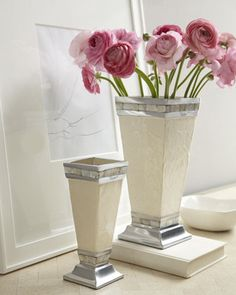 Fresh flowers in a stunning vase brighten a room and make it so much more inviting.