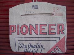 Pioneer Feed Sack Clothes Pin Bag