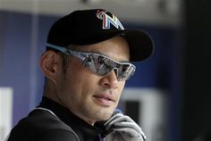 FILE - In this July 6, 2016, file photo,Miami Marlins' Ichiro Suzuki sits in the dugout before the baseball game against the New York Mets at Citi Field in New York. The 42-year-old Miami player is chasing 3,000 hits in the majors. (AP Photo/Seth Wenig, File) ▼15Jul2016AP|He was there: Piniella cheers as Suzuki chases 3,000 hits http://bigstory.ap.org/article/0bf88692d06d40af92b6a5ec78c6da0d/ #イチロー #Ichiro_Suzuki