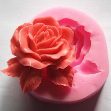 Handmade soap/silicone mold/soap mold/silicone soap mold/rose(China (Mainland))