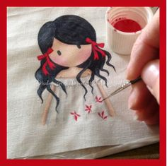 Diademas y Complementos Isabel: Bag, Headband and Toilet in Red, White and Black . Fabric Painting On Clothes, Fabric Paint Shirt, Paint Shirts, Dress Painting, T Shirt Painting, Painted Clothes, Hand Painted Dress, Hand Painted Fabric, Hand Embroidery Designs