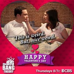 "bigbangtheory_cast: ""Wishing fans everywhere a very 'Nice weird' \ Regram Valentine Day Cards, Happy Valentines Day, Amy Farrah Fowler, Mayim Bialik, Jim Parsons, Big Bang Theory, Bigbang, Wish, Nerd"