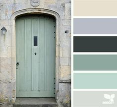 "Seafoam Color Palette   door tones"" by design seed: seafoam green color palette…"