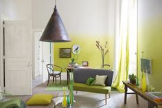 Yellow Ombre Walls