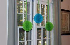 Tissue Balls - Green & BlueTheme