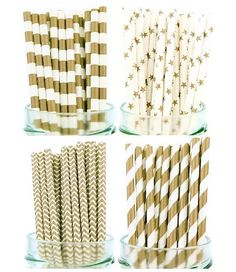 Amazon.com: Secret Life(TM) Silver Paper Drinking Straws, Striped Chevron Star 100% Biodegradable Party Straws(PSCFPR10): Health & Personal Care