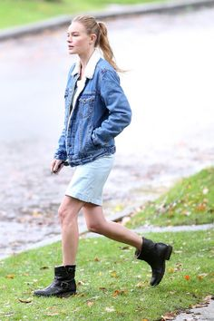 Kate Bosworth Is Warm and Stylish in an All-American Classic for more fashion and beauty advise check out The London Lifestylist http://www.thelondonlifestylist.com