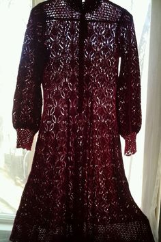 MISS Jo Ann California Knit Crochet  mercerized cotton Blend DRESS size 8   #SweaterDress #Casual