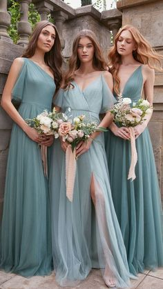mismatched bridesmaid dresses, blush and whipped apricot bridesmaid dresses, blue mismatched bridesmaid dresses Garden Bridesmaids Dresses, Velvet Bridesmaid Dresses, Mismatched Bridesmaid Dresses, Bridal Party Dresses, Blue Bridesmaids, Wedding Dresses, Wedding Bridesmaids, Bridesmaid Inspiration, Wedding Inspiration