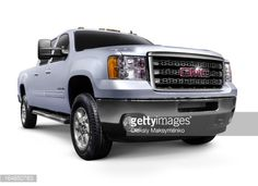 Stock Photo : 2012 GMC Sierra 2500HD General Motors pickup truck. Isolated on…