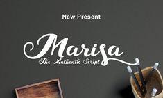 Marisa Script by Ijemrockart / Letterplay on @creativemarket