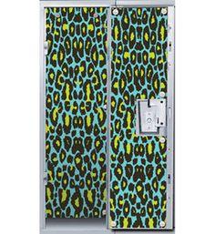 Blue Cheetah Print Locker Decor Wallpaper locker necessities 1. Wallpaper but not necessarily this one