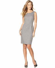 Kasper Dress, Sleeveless Scoop Neck Sheath - Dresses - Women - Macy's - $48