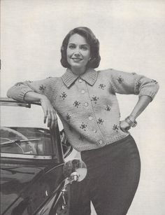 Jamaica Jive • 1960s Cardigan Sweater Pattern • Vintage Knitting Patterns • Retro Columbia Minerva 731 PDF