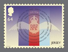 Battle of Britain Stamps | Illustrated Commemorative British Postal Stamps | Award-winning Graphic Design | D&AD